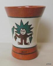 "Mug / Tumbler Lo Tome en el Kero Bor Lima Sheraton Hand Painted 4"""