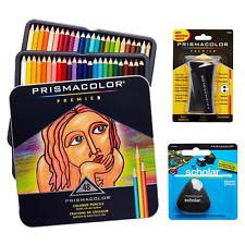 Prismacolor Premium Arte Set 48 MATITE COLORATE pencilsharpener privo di lattice gomma