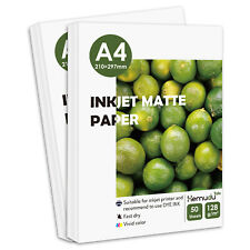 100 Sheets Matte A4 128g Inkjet Printer Paper Photo Projects Canon HP Epson