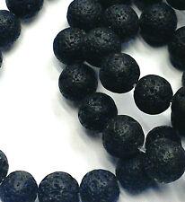 Negro vesuvianite Cuentas Redondas 8mm 16 pulgadas STRAND Aprox 50 Cuentas