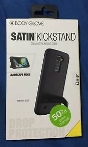 NEW Body Glove Case Satin KickStand Drop Protection Case for LG K10 - Black