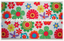 1.5 Malibu Flowers Summer Red Lime Blue Yellow Grosgrain Ribbon 4 Hairbow Bow