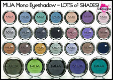 MUA Makeup Academy Mono Eyeshadow Matte Pearl Smokey Black Green Purple Light