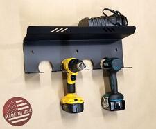 [Sr] Wall Mount Drills Tools & Bits Holder Rack Storage DeWalt Milwaukee Makita