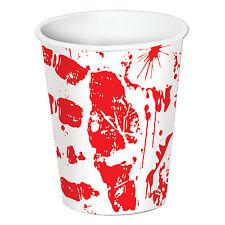 8 HALLOWEEN Party Zombie BLOODY HANDPRINTS Paper Beverage CUPS 9oz