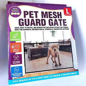 Pet Mesh Guard Gate Room Divided Dog Safety Gate Restrain Pen