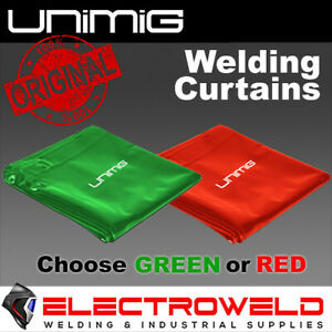 UNIMIG WELDING CURTAIN *Red Green SCREEN FIRE HEAT PROOF RESISTANT XCELARC XABSF