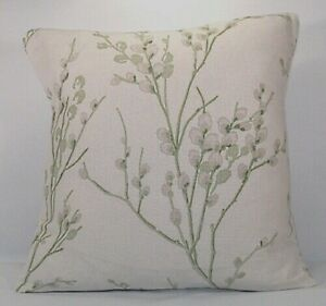 Handmade Cushion Cover in Laura Ashley Pussy Willow Hedgerow Off White