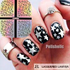 9 Tips/Sheet Star Nail Vinyls Nail Art Stencils Holo Nail Stickers NF207