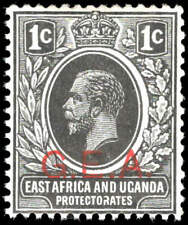 Scott # N106 - 1917 - ' King George V ', Ovptd. G.E.A. in Red