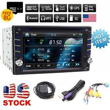 Backup Camera GPS Navigation Double 2Din Car Radio Stereo DVD Player Free Camera