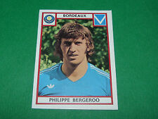 BERGEROO BORDEAUX GIRONDINS LESCURE RECUPERATION PANINI FOOTBALL 76 1975-1976