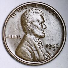 XF 1926-S Lincoln Wheat Cent Penny FREE SHIPPING
