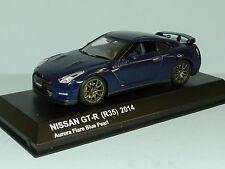 Kyosho 1/43 2014 Nissan GT-R (R35) Aurora Flare Blue Pearl MiB