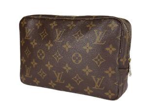 LOUIS VUITTON TROUSSE TOILETTE 23 Monogram Canvas Cosmetic Pouch Bag LP3906