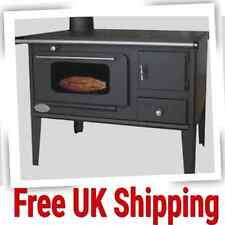 Log Burner Stove Wood Burning Oven Cooking Solid Fuel Cast Iron Top 7kW Kitchen