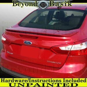 2012 2013 2014 2015 Ford FOCUS 4dr Sedan Factory Style Spoiler Wing UNPAINTED
