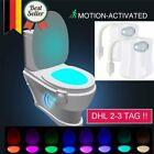 2* LED Toilettenlicht Bewegungsmelder Toilettendeckel WC Nachtlicht dhl NEU