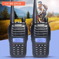2pcs Baofeng UVB6 Dual Band Ham Walkie Talkie Handheld UHF VHF Two Way FM Radio