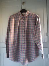 Vintage Ladies 90s French Connection Oversized Checked Blue Shirt Small UK 10-12