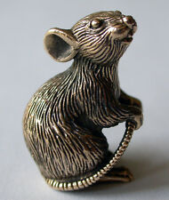 Tiny Solid Bronze Mouse by N.Fedosov.