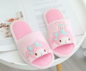 my melody pink plush indoor slippers shoes Open-toed sandals 2021
