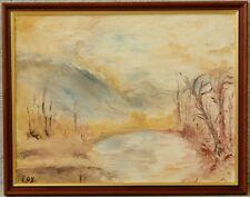 Expressionist » Landschaft « monogr. ! verso Asted Björgens ? 1934