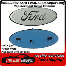 2005-2007 Ford F250/F350 Super Duty WHITE Grille Emblem Badge Name Plate