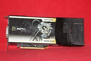 For Parts. XFX GeForce 9800 GX2 600M 1GB DDR3 PCI, Express 2.0 x16 Graphics Card