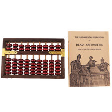 Chinese Wooden Abacus Arithmetic 9 Digits Calculating Tool Soroban Kids