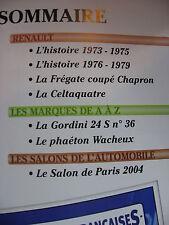 FASCICULE 68 VOITURES FRANCAISES  RENAULT CELTAQUATRE FREGATE CHAPRON GORDINI 24
