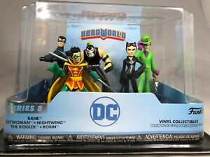 FUNKO DC HEROWORLD SERIES 8 SET OF 5 VINYL COLLECTIBLES CATWOMAN THE RIDDER NEW