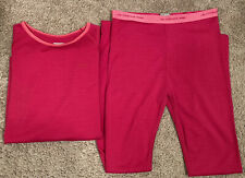 Icebreaker Merino Lightweight Youth L/XL 13-14Y Pink Merino Wool Shirt Bottoms