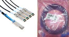 Amphenol SF-QSFP4SFPPS-005 QSFP to 4 SFP+ Splitter Cable, Passive Copper, 5M NEW