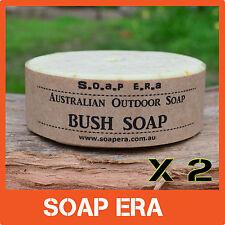 2 x Aussie Bush Soap- 100% Coconut oil Castile Outdoor Soap works in sea water