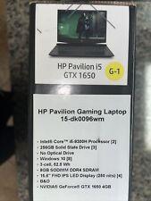 "HP 15.6"" FHD Pavilion Gaming Laptop 15-dk0096wm i5 NVIDIA GTX1650 8GB 256GB SSD"