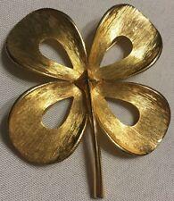 Four Leaf Clover Gold Brooch