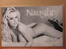 Nikki Cherie Night Hot girl ORIGINAL man cave car garage Vintage Poster 7091