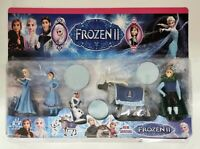 Frozen 2 Playset Include Elsa Anna Hans Sven and Olaf figure Toys