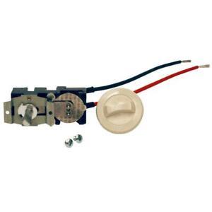 Com-Pak Series Single Pole Thermostat Kit Integral Built In 22 Amp Almond