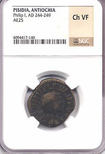 ANTIOCHA PISIDIA Philip I AD 244-249 AE25  NGC Ch VF  AC