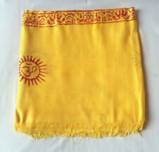 OM Cotton Yellow Color Prayer Shawl For Yoga and Meditation