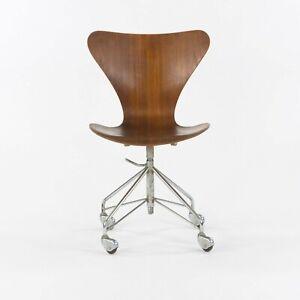 1964 Arne Jacobsen 3117 Fritz Hansen Denmark Rolling Desk Chair Vintage Original