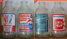 More details for 4 x collectable unigate pint advert milk bottles - mixed lot - vintage 80s