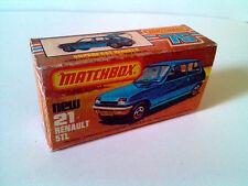 Boîte copie repro MATCHBOX Superfast N° 21 new Renault 5 TL ( reproduction box )