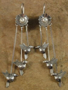 Beautiful Mexican Mexico Sterling Silver Frida Earrings