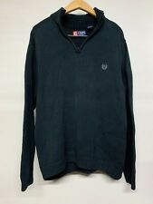 CHAPS Vintage Ralph Lauren Knit Jumper | Large L | Black Knitted Sweater Casual