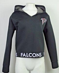 Atlanta Falcons NFL Touch Women Active Pullover Black V-Neckline Hoodie