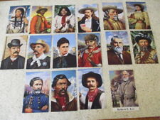 """16 VINTAGE 1993-94 USPS PRE-STAMPED POSTCARDS """"FAMOUS PEOPLE OF THE OLD WEST"""""""