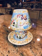Yankee Candle Snowman 3pc Candle Holder Small Votive Tealight shade plate Cup EC
